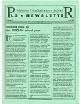 PLS Newsletter, v4n8, May 1994 by Malcolm Price Laboratory School