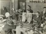 1930 physics class with teacher Cyril Jackson