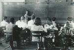 1942 student-teacher with business class