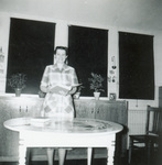 1951 Marguerite Struble in French and Latin classroom
