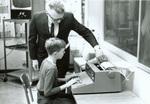 1968 Lynn Schwandt teaching computer use