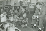 Harold Budensieck talks to a class