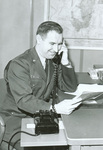Harry Pfanz on the audio-phone to State College High School