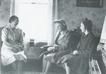 Margaret Divilbess, English teacher and friends