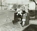 Playing on outdoor box