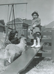 Seesaw and girl