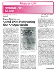 Music at UNI, v5, Summer 1986 by University of Northern Iowa. School of Music.