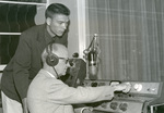 September 1960 with George Wine in the radio office