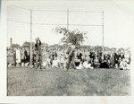 Fans watch an informal game