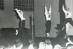 1948 Pep rally on stage