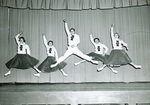 1950s pep rally on stage