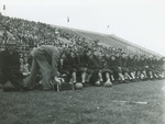 1946 Bench and crowd at N.D.S. game
