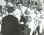 1965 Stan Sheriff hoised on shoulders