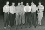 1947 golf team with coach