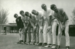 1969 May 3 golf team lines up