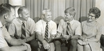 1966 Wessley home visit by Coach Jack Jennett (photo by Dan Jacob)