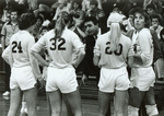 1982 coach during timeout by Chuck Holley by Chuck Holley