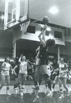 1975-76 Kathy Shogren shooting in game