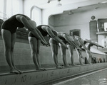 1986 diving off the pool edge