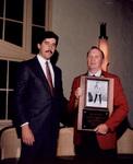1985 Bob Bowlsby presents Hall of Fame Award