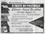 Ethnic food booth advertisement, August 27, 2000