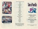 Taste of Postville program, August 26, 2001