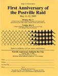 First Anniversary of the Postville Raid [flyer]