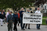 Jewish community action marchers by Julie Berg-Raymond