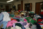 Donated clothing to St. Bridget's Catholic Church by Julie Berg-Raymond