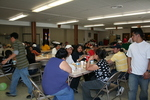 Group meal at St. Bridget's Catholic Church by Julie Berg-Raymond