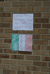 Handwritten signs outside St. Bridget's Catholic Church 02 by Julie Berg-Raymond