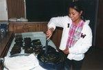 Food preparation at Presbyterian Church in Postville 2004
