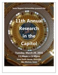11th Annual Research in the Capitol [Program], March 29, 2016