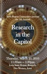 5th Annual Research in the Capitol [Program], March 25, 2010