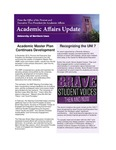 Academic Affairs Update, April 2016 by University of Northern Iowa. Office of the Provost and Executive Vice President for Academic Affairs.