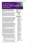Academic Affairs Update, September 2014 by University of Northern Iowa. Office of the Provost and Executive Vice President for Academic Affairs.