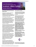 Academic Affairs Update, October 2014 by University of Northern Iowa. Office of the Provost and Executive Vice President for Academic Affairs.
