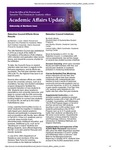 Academic Affairs Update, November 2014 by University of Northern Iowa. Office of the Provost and Executive Vice President for Academic Affairs.