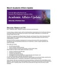 Academic Affairs Update, March 2016 by University of Northern Iowa. Office of the Provost and Executive Vice President for Academic Affairs.