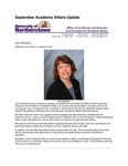 Academic Affairs Update, September 2016 by University of Northern Iowa. Office of the Provost and Executive Vice President for Academic Affairs.