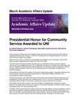 Academic Affairs Update, March 2017 by University of Northern Iowa. Office of the Provost and Executive Vice President for Academic Affairs.