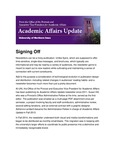 Academic Affairs Update, April 2017 by University of Northern Iowa. Office of the Provost and Executive Vice President for Academic Affairs.
