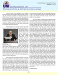 Philosophy & World Religions Department Newsletter, v4, Spring 2012