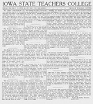 Quarterly News Letter to Alumni, April 1, 1915 by Iowa State Teachers College