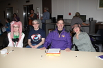Costume Contest Judges at the 2014 RodCon Mini Comi Con by University of Northern Iowa. Rod Library.