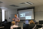 "Brandon Dean presents ""The Controversial Christian Comics of Jack T. Chick"" at the 2015 RodCon Mini Comi Con by University of Northern Iowa. Rod Library."