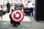 Captain America at the 2017 RodCon Mini Comic Con by University of Northern Iowa. Rod Library.