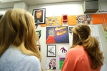 Wall of Comic Art at the 2017 RodCon Mini Comic Con by University of Northern Iowa. Rod Library.