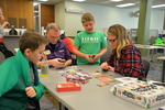 Friendly Meeple Board Game area by University of Northern Iowa. Rod Library.