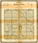 Topographical map of Adair County Iowa 1904
